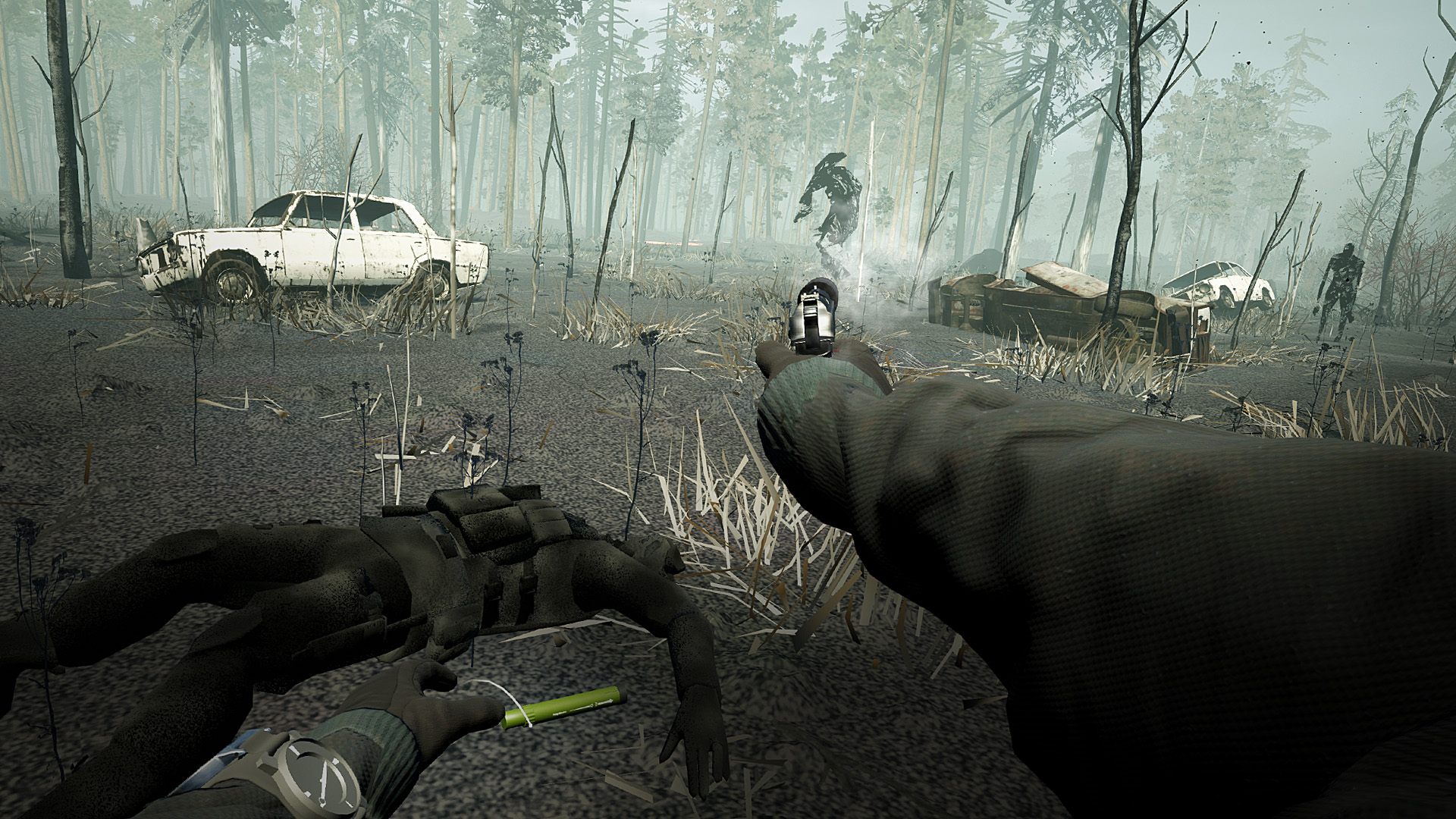 Forest combat gameplay